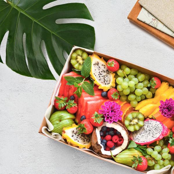 caja de frutas festt tabla tropicalera